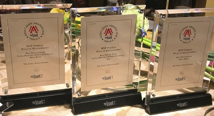 The Asset Triple A Awards 2018 trophies
