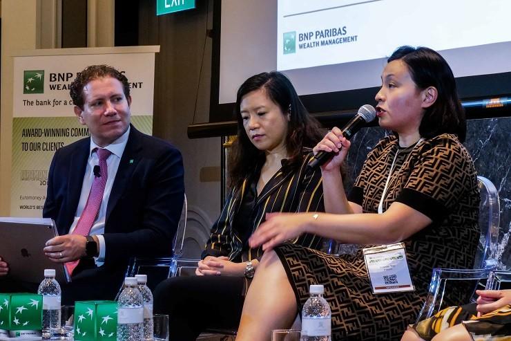 Garth Bregman, Head of Investment Services, Asia with Grace Tam, Chief Investment Advisor, BNP Parib